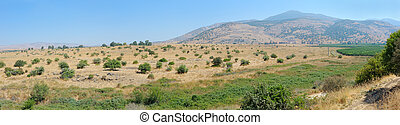 Panorama of the northern border of Israel