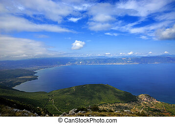 Panorama of the Ohrid lake