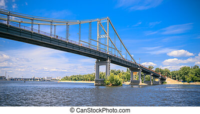 panorama of the Park bridge in Kiev