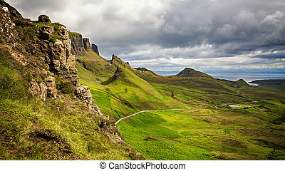 Panorama of the Quiraing mountain range