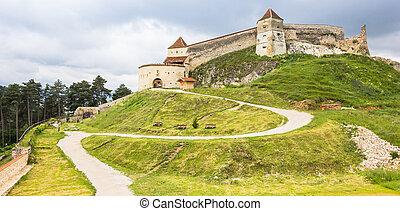 Panorama of the Rasnov castle