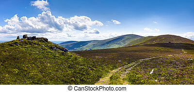 Panorama of the trail to Mount Leinster