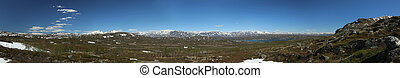 Panorama of the valley Karkevagge in Northern Sweden
