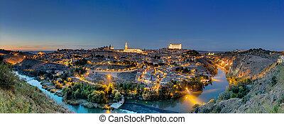 Panorama of Toledo at dawn