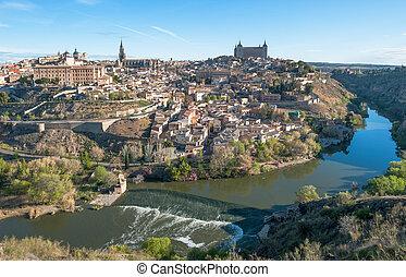Panorama of Toledo, Spain
