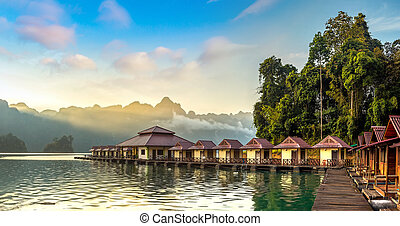 Khao Sok National Park - Panorama of Traditional Thai...
