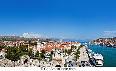 Panorama of Trogir in Croatia - architecture background