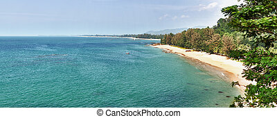 Panorama of tropical beach - Thailand, Phuket