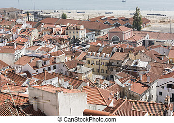 panorama of very old lisbon