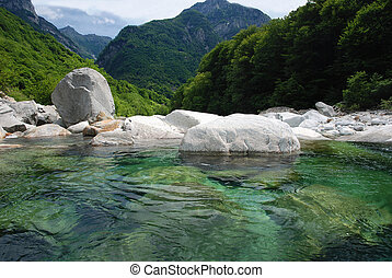 Panorama of Verzasca-valley