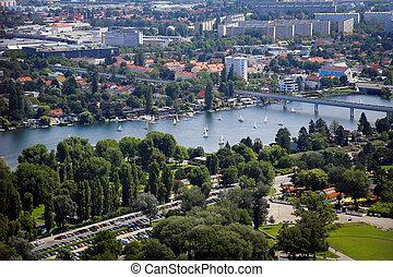 Panorama of Vienna City in Summer.