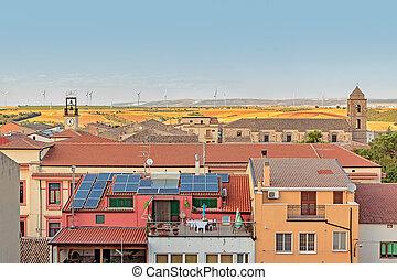 panorama of village