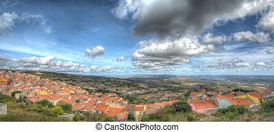 Villanova Monteleone panorama in hdr tone