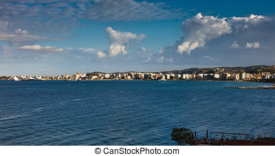 Panorama of Vlora, Albania - Vlorë (known also by several...