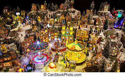 winter toy village