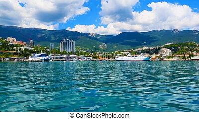 Panorama of Yalta, Crimea, Ukraine - Scenic summer panorama...