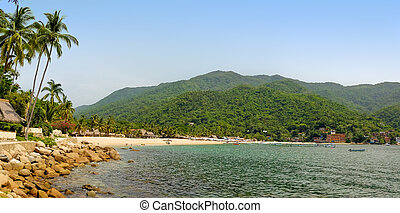 Panorama of Yelapa Beach in Mexico