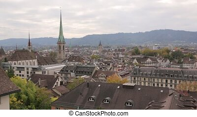 Panorama Of Zurich Buildings - The panorama of Zurich...