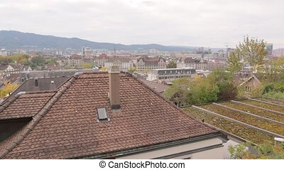 Panorama Of Zurich Cityscape - The panorama of Zurich...
