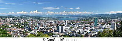 Panorama of Zurich, Switzerland