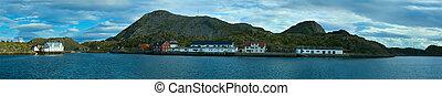 Panorama os island Skrova of Norwegian Lofoten