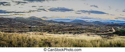 Panorama over the wilderness landscape of Arizona