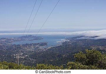 panorama, pacific ocean, synhåll