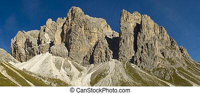 panorama, paisagem, em, alpes, dolomites