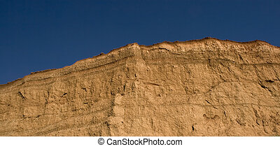 panorama, paisaje del desierto, acantilado