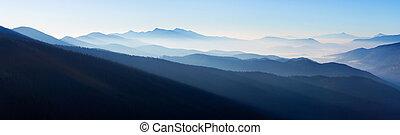 panorama, paysage, montagne