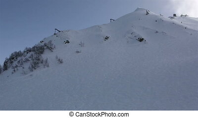 Panorama peaks of Caucasus Mountains in the Rosa Khutor alpine ski resort