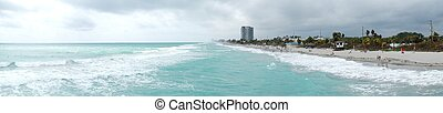 Panorama Photo of Dania Beach from - panoramic photo taken...