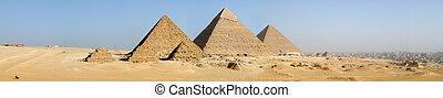 panorama, pirámides