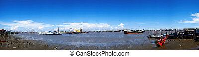 panorama port transport industry.