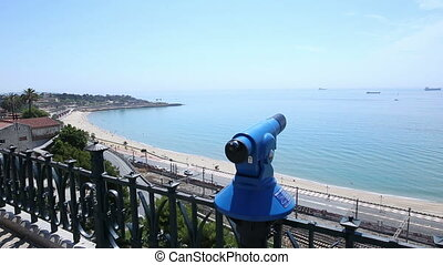 panorama railway and sea - panorama overlooking the road...