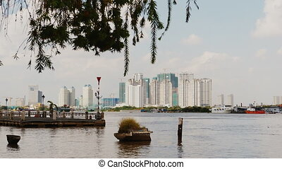 Panorama residential high-rise buildings in Ho Chi Minh city. Vietnam.