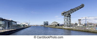 panorama, rivière clyde, glasgow