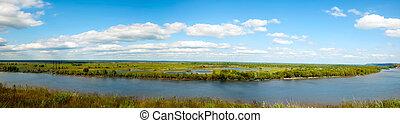 panorama, rivière
