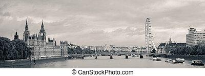 panorama, rzeka thames