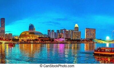Panorama Singapore Skyline