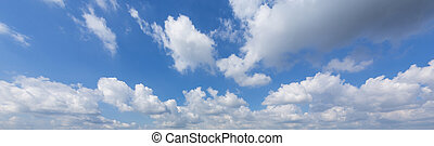 panorama sky with clouds for backgrounds