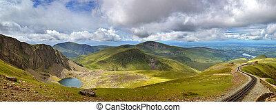 panorama,  Snowdonia