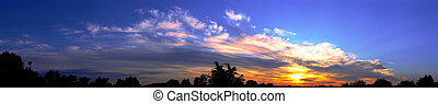 panorama, soluppgång