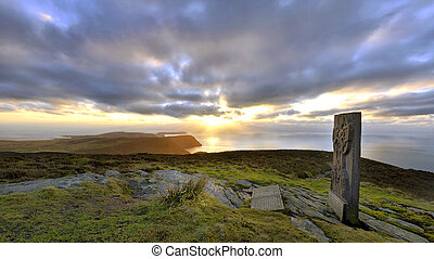 Panorama - South of the Isle of Man with Celtic Cross
