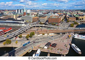 panorama, stockholm, schweden