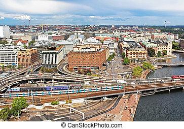 panorama, stockholm, zweden