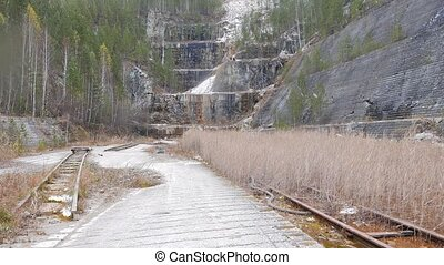 Panorama talc quarry. Russia