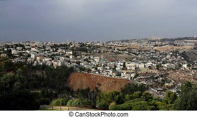 Panorama the old city Jerusalem