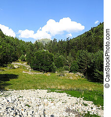 Aiguestortes National Park in the Catalan Pyrenees, Spain