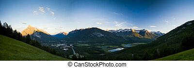 panorama, townsite, banff